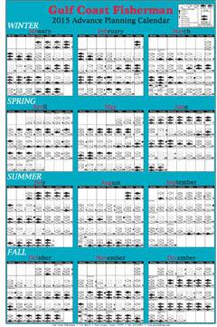 Gulf coast fisherman monthly fishing calendar florida gulf for Fishing moon calendar