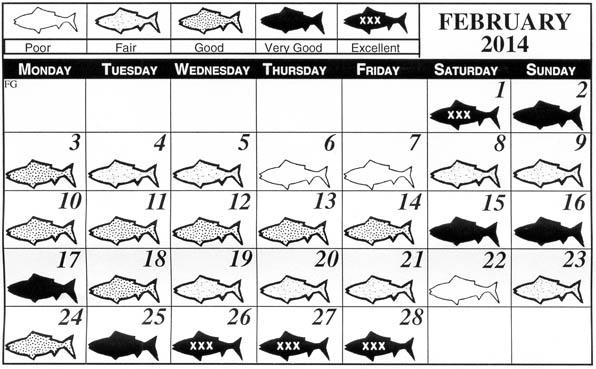 gulf coast fisherman monthly fishing calendar florida gulf